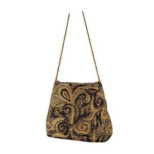 Moyna Beaded Purse Paisley Print